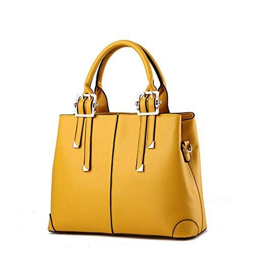 Eysee , Damen Tote-Tasche Schwarz weinrot 32cm*25cm*12.5cm gelb