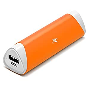 Sentey Power Bank Brio 2800mah Orange Lipstick-sized Portable External Charger for Apple Iphone, Ipad, Ipod, Samsung Galaxy, HTC and More - Mobile Backup Battery Pack - Bundle with Free Transport or Protection Pouch Ls-2101