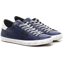 Philippe Model Paris Uomo Scarpe Sneaker Nuovo Stile Blue White Pelle  Primavera Estate 2018 CLLU ab6604f7dd9