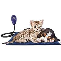Petilleur Manta Eléctrica para Perros Gatos Almohadilla Térmica Mascotas con 7 Niveles de Temperatura Ajustable,
