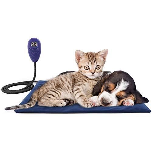 Petilleur Hund Heizmatte Heizdecke Hund Katze Wärmematte für Hund/Katzen, 7 Temperatureinstellung Modi (50 * 50cm)