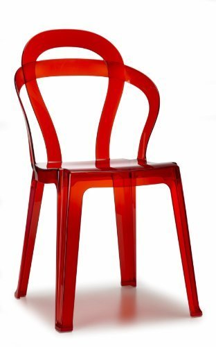 Scab Chair Titi Red Transparent