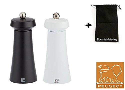 addd16389b5894 Set à tOKYO peugeot moulin à poivre et sel noir blanc - 16 cm