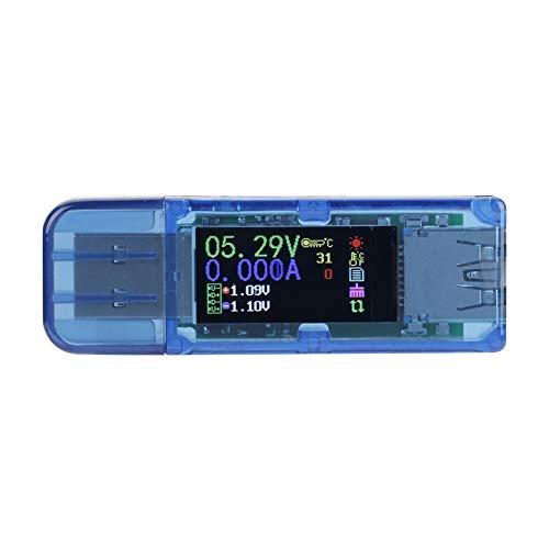 USB-Multimeter, AT34 USB 3.0-Farb-LCD-Voltmeter-Amperemeter-Stromzähler-Ladegerät mit IPS-Farbdisplay