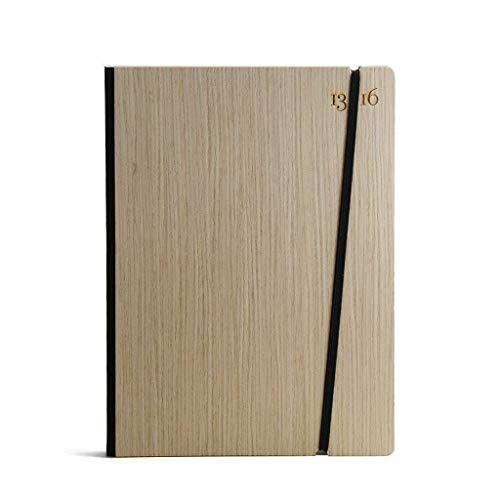 Notizen Italienisch (Notizbuch, handgebunden in Italien. 13sedicesimi. Steifer Einband aus Holz, Farbe Eschen. Verschluss mit Gummiband. Abmessungen A5, 16x21,7cm. 201 nummerierte Seiten und Index.)