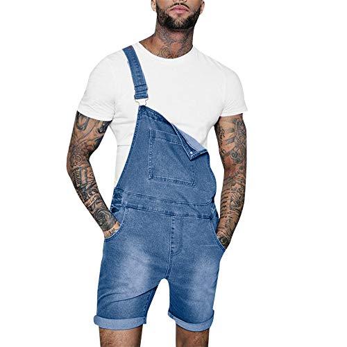Beonzale Sommer Männer Overall Lässige Jumpsuit Jeans Wash Broken Pocket Hosen Hosenträgerhose Shorts Kurze Shorts Kurze Cargo Shorts - 5-pocket-leder-jeans