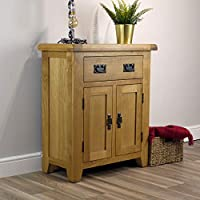 Arklow Oak Small Sideboard / 2 Door 1 Drawer Mini Sideboard/Living Room Storage