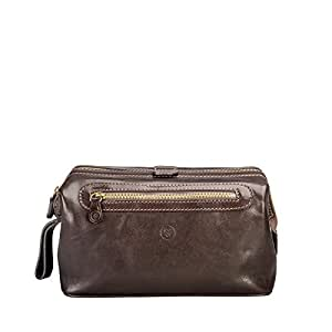 a15c59310d Maxwell-Scott® Luxurious Handcrafted Italian Leather Large Wash Bag ...