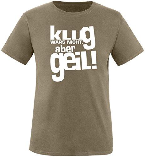 Luckja Klug war es nicht aber Geil Herren Rundhals T-Shirt Oliv/Weiss