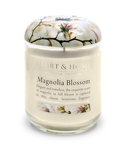 Heart & Home - Candela grande al profumo di magnolia in barattolo di vetro