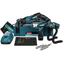 Makita LCT315X - Juego de herramientas eléctricas de 10,8 V (modelos: TD090D + JR102D + ML101, incluye 2 baterías y cargador)