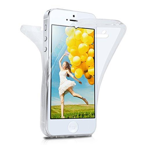 MoEx iPhone 5S Hülle Silikon Transparent 360 Grad [OneFlow Double Side Cover] Dünne Schutzhülle Slim Handyhülle für iPhone 5/5S/SE Case Klar Silikonhülle TPU