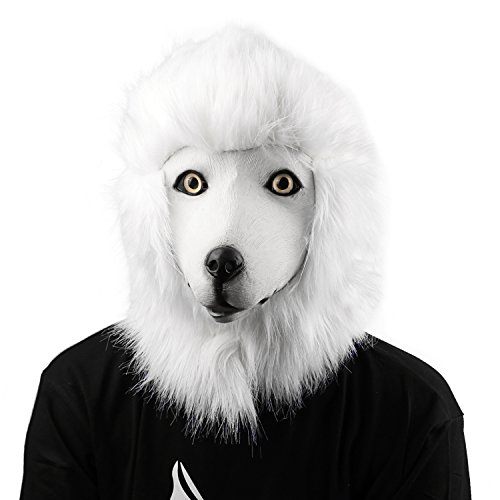 XIAO MO GU Halloween Maske latex Dogen Hund Tiermaske (Kostüm Doge Hund)
