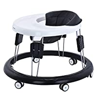 Adjustable Baby Walkers for Baby with Easy Clean Tray, Eight Universal Wheeled Walker, Anti-Rollover Folding Walker for Girls&Boys 6-18Months Toddler