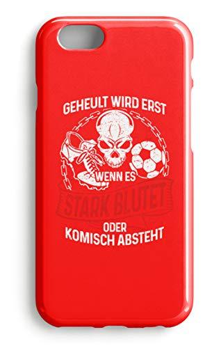 shirt-o-magic Handyhülle Fußballer: Beim Fussball wird nicht geheult - Case -iPhone 7-Rubinrot