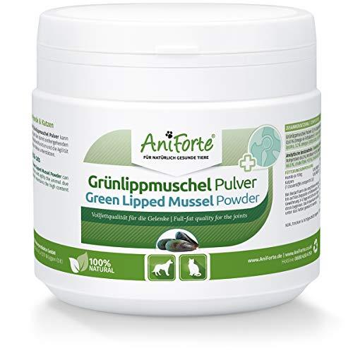 AniForte Grünlippmuschel-Pulver 250g für Hunde und Katzen - Natürliches Gelenk-Pulver in Vollfett Qualität, Unterstützt Gelenke & Gelenkfunktion, Reines Grünlippmuschel-Extrakt, Ohne Zusätze
