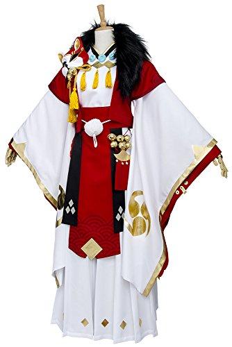 ouji Fox Cosplay Kostüm Outfit Kimono Suit XXXL (Yin Yang Halloween Kostüm)