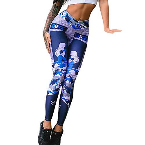 AMhomely Damen Jogginghose, 2019 Weibliche Yogahosen Fitness-Trainingshose Blaue Hose mit Yoga-Leggings Kann mit Einem Kleid getragen Werden