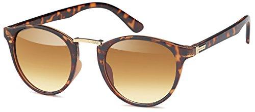 Vintage Sonnenbrille in runder Form und cateye look (horn-Verlauf)
