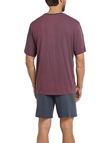 Schiesser Herren Schlafanzughose Anzug Kurz rot (rot 500)