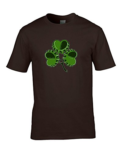 SHAMROCK Irish Ale BEERTOP-da FatCuckoo Maglietta da uomo marrone XXL - Irish Ale
