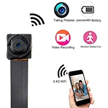 Maizic_SmartHomes Full HD 1080p WiFi Mini DIY Button Spy Hidden Pinhole Camera Mini DVR with Motion Detection