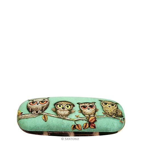 santoro-book-owls-glasses-case