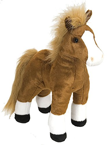Wild Republic - Caballo de Peluche Cuddlekins, 30 cm, Color marrón (16994)