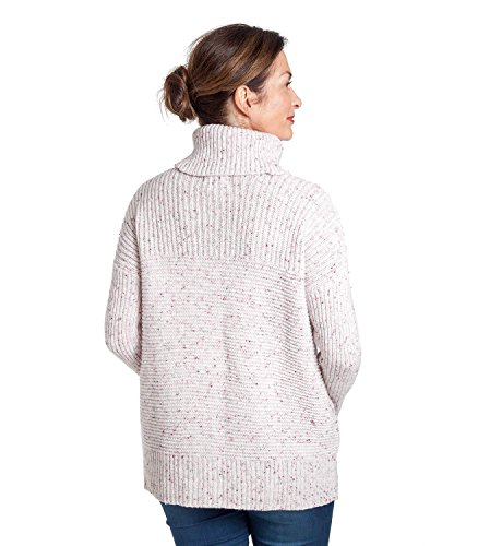 WoolOvers Pull kangourou - Femme - Laine d'agneau Cream Nep