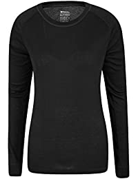 Mountain Warehouse Talus Womens Long Sleeves Baselayer Top - Thermal Underwear, Lightweight Tee Shirt, Breathable, Easy Care Blouse - for Cold Weather