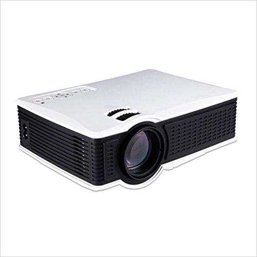XHZNDZ Proyector Mini proyector Proyector de Video portátil de 1500 lúmenes, 30,000 Horas Proyector de Video de Cine en casa Multimedia, Soporte Tarjeta SD de 1080P HDMI