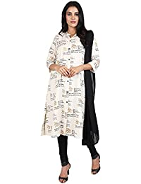 Vastra Vinod Women's Cotton Straight Salwar Suit Set - B071F3MKR2