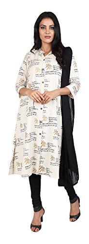 Vastra Vinod Women's Cotton Straight Salwar Suit Set - B071F3MKR2