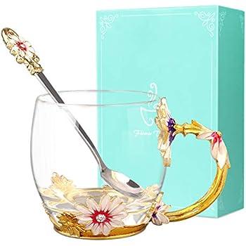 Do4U Frauen Einzigartige Neuheit 3D Blume Glas