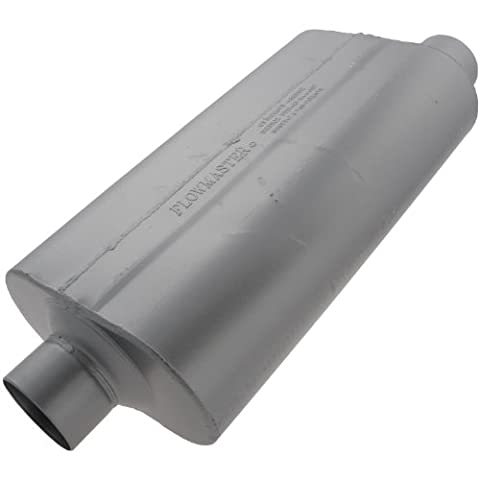 Flowmaster 9530560 50 H.D. Muffler - 3.00 Offset IN / 3.00 Center OUT - Moderate Sound by Flowmaster