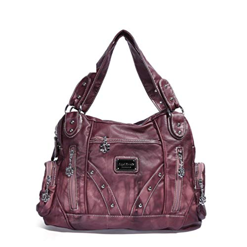 PU Leder Umhängetaschen für Frauen Stilvolle Reise Einkaufen Krawatte gefärbte Umhängetaschen Damen Handtaschen Pink -