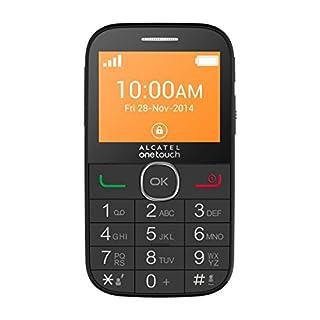 Alcatel One Touch 20.04C Großtastenhandy (2.4 Zoll (6,09 cm) Seniorenhandy, SOS-Button, UKW-Radio mit RDS, Taschenlampe, Hörgeräte tauglich M3 und T4) schwarz