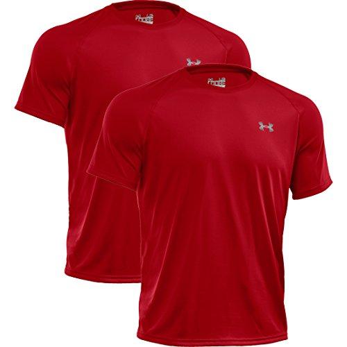 under-armour-heatgear-loose-tech-shortsleeve-tee-shirt-2er-pack-rot-rot-600-xl