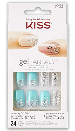 Kiss Gel Fantasy Nails - Rush Hour C, 1er Pack (1 x 24 Stück)