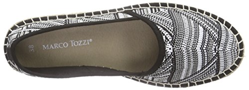 Marco Tozzi - 24203, Espadrillas Donna Nero (Schwarz (BLACK COMB 098))