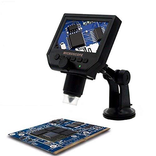 HD 3.6 Mp Microscopio Digitale Portatile + Schermo LCD 4.3 - Microscopio digitale/videocamera fotocamera + micro SD Card Slot, acquisizione di foto e video ...