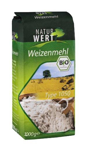 Naturwert Bio Weizenmehl Typ 1050, 10er Pack (10 x 1000 g Packung) - Bio