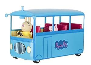 Peppa Pig Autobús del Cole, Color Azul, (Bandai 92637)
