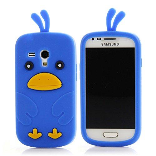 Handy Lux® Schutz Hülle Silikon Case Cover Etui Chicken für LG Optimus L9 - Blau (Handy Case Lg Optimus)
