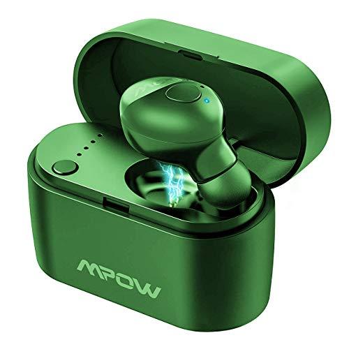 Mpow Auricolare Bluetooth 5.0, Mini True Wireless Auricolare in-Ear con Custodia di Ricarica 400mAh, Microfono