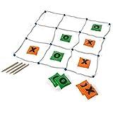 BuitenSpeel GA263 - spel, Tic, Tac, Toe met 10 werpzakjes, groen/oranje
