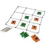 BuitenSpeel GA263 - Spiel, Tic, TAC, Toe mit 10 Wurfsäckchen, grün/Orange