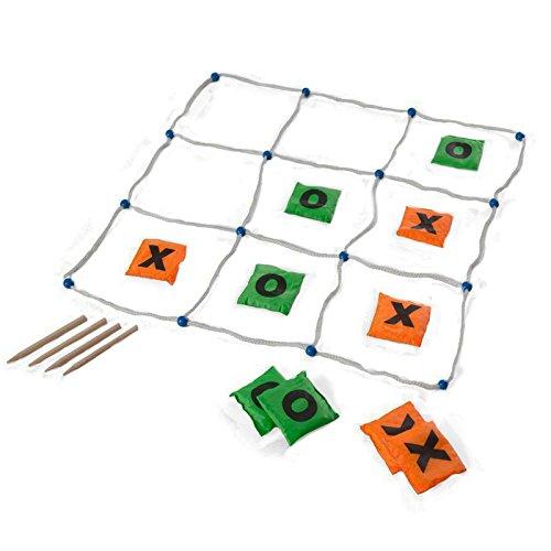 Spiel, Tic, Tac, Toe mit 10 Wurfsäckchen, grün/orange ()