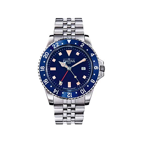 Davosa Blue Bezel Vintage Diver Watch
