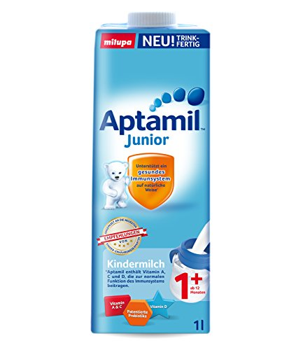 Aptamil Junior Kindermilch 1+ trinkfertig, 6er Pack (6 x 1 Liter)